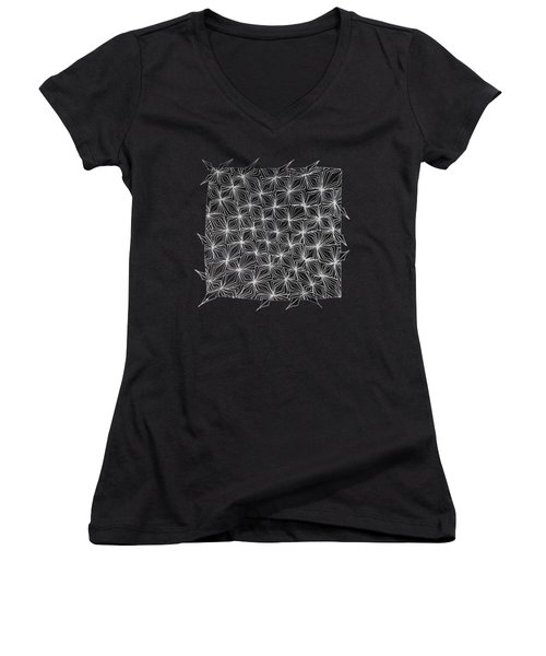 Ice Crystal Abstract  Women's V-Neck (Athletic Fit)