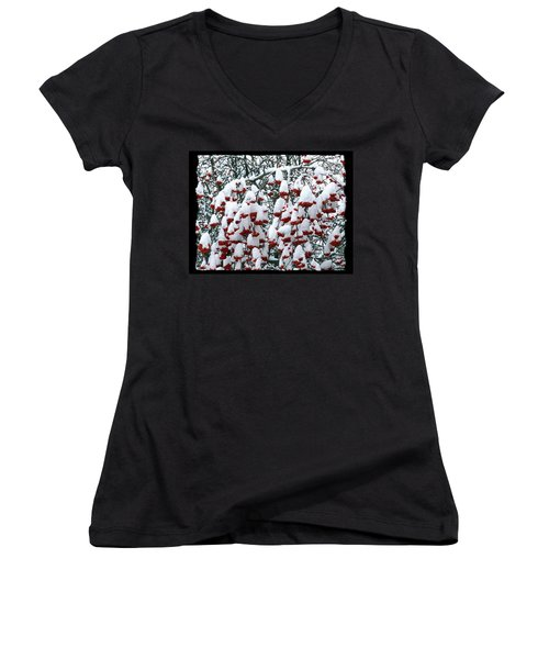 Women's V-Neck T-Shirt (Junior Cut) featuring the digital art Icing On The Cake 2 by Will Borden