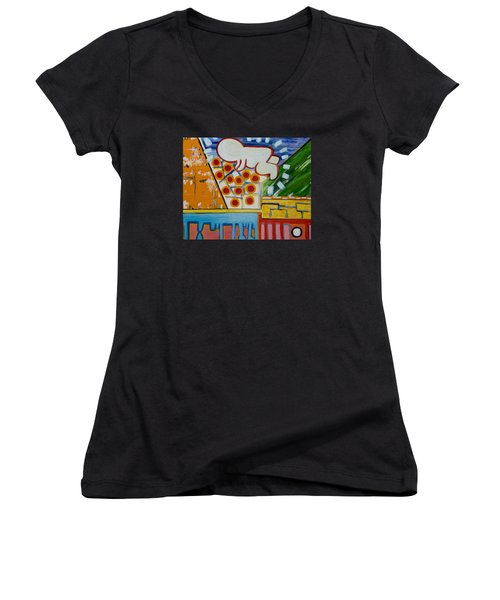 Iconic Baby Women's V-Neck T-Shirt (Junior Cut) by Jose Rojas