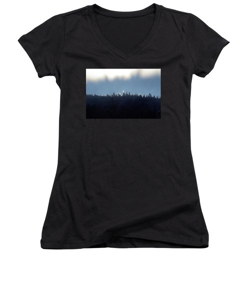 Icy Sunrise Women's V-Neck (Athletic Fit)