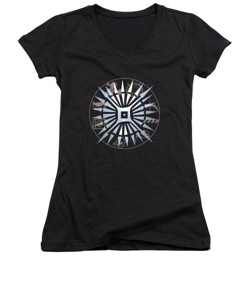Ietour Logo Design Women's V-Neck (Athletic Fit)