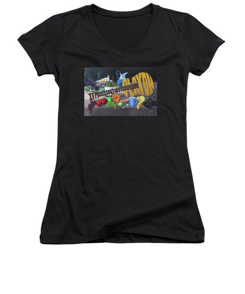 If Music Be The Food Of Love Play On Women's V-Neck