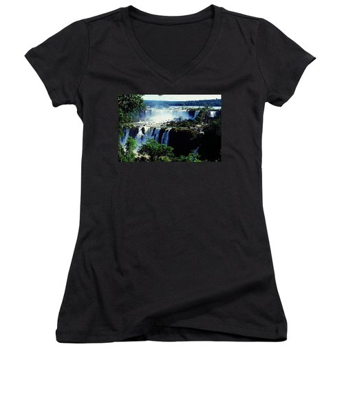 Iguacu Waterfalls Women's V-Neck