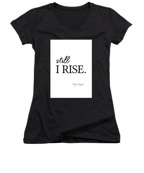 I'll Rise #minimalism 3 Women's V-Neck