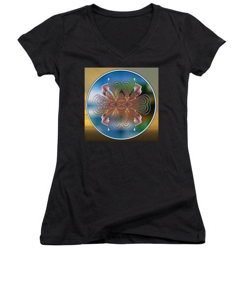 Illustrated Means Women's V-Neck T-Shirt (Junior Cut) by Mario Carini