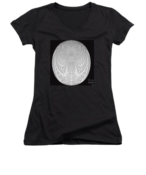 Women's V-Neck T-Shirt (Junior Cut) featuring the photograph Imagination Set Free by Donna Brown
