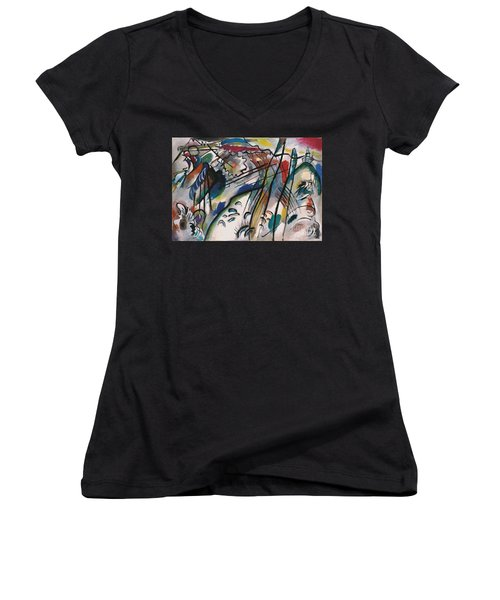 Improv 28 Women's V-Neck T-Shirt (Junior Cut) by Kandinsky