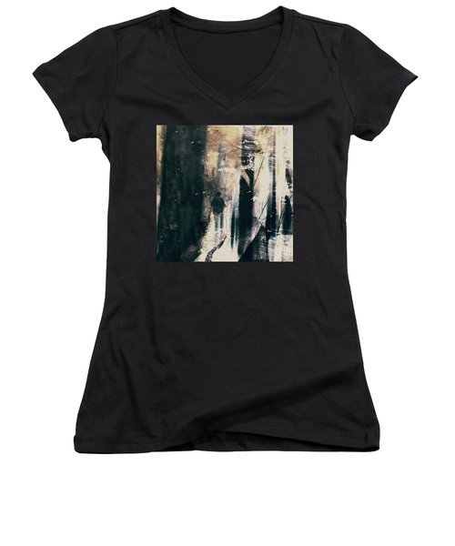 In A Yellow Wood Women's V-Neck T-Shirt