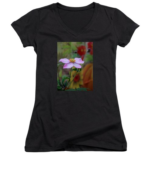 In Bloom Women's V-Neck T-Shirt (Junior Cut) by Karen Harrison