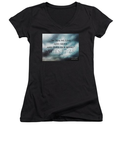 In Him We Live... Women's V-Neck T-Shirt