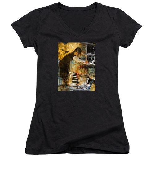 Crumble-metamorphosis Begins Women's V-Neck T-Shirt