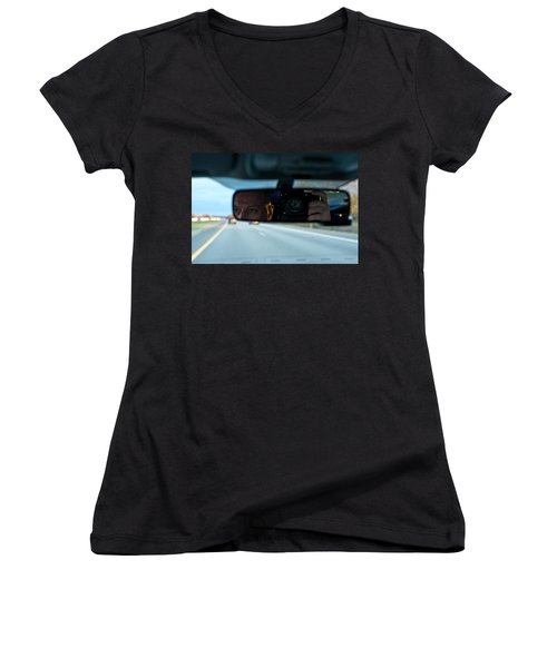 In The Road Women's V-Neck (Athletic Fit)