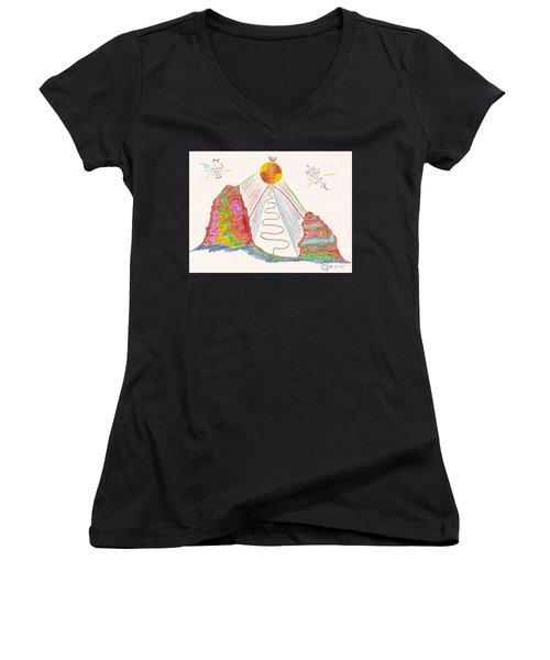 In The Spotlight Women's V-Neck T-Shirt (Junior Cut) by Mark David Gerson
