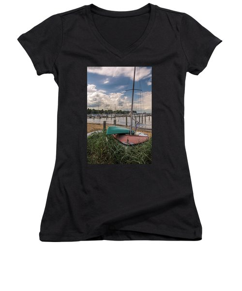 In The Weeds Women's V-Neck (Athletic Fit)