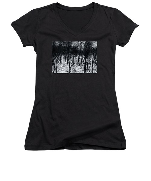 In The Woods 7 Women's V-Neck (Athletic Fit)
