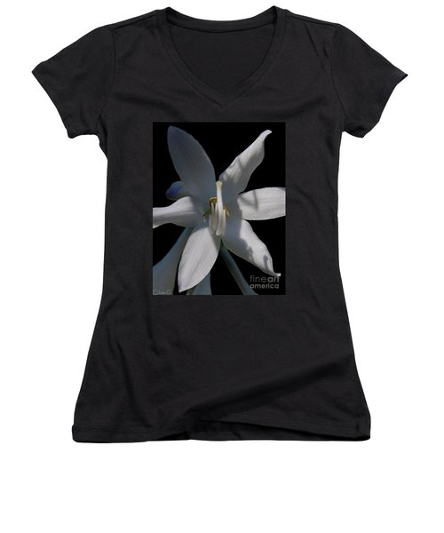 Inappropriate Gesture Women's V-Neck (Athletic Fit)