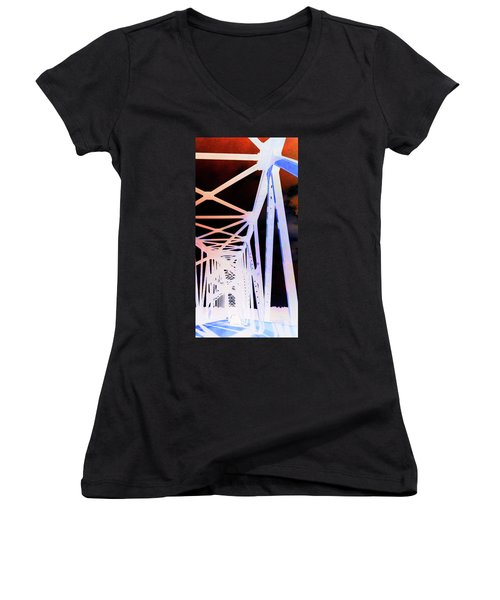 Women's V-Neck T-Shirt (Junior Cut) featuring the photograph Indefinite Sight In by Jamie Lynn