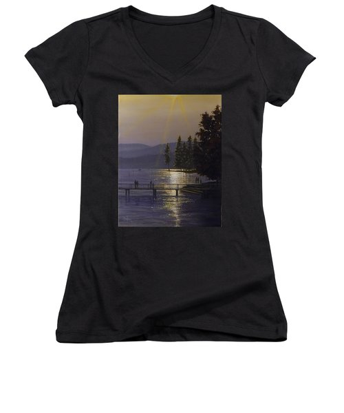 Independence Point, Lake Coeur D'alene Women's V-Neck (Athletic Fit)