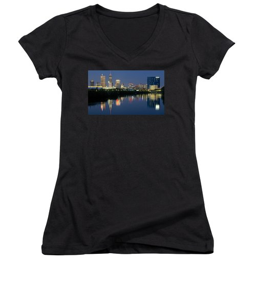 Indianapolis Night Women's V-Neck (Athletic Fit)