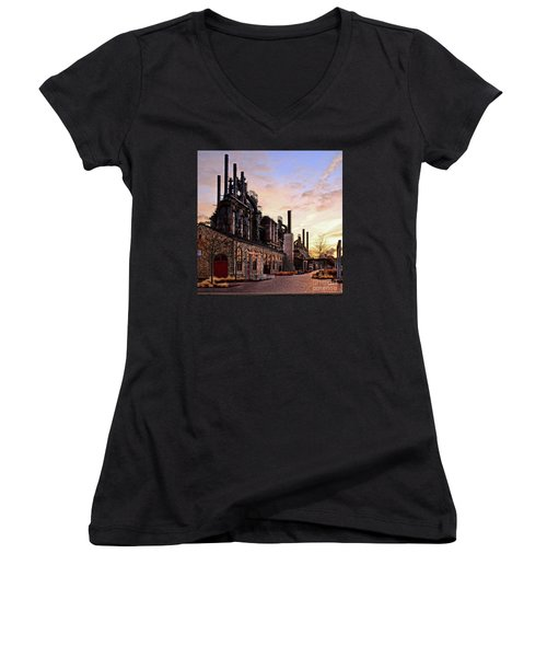 Industrial Landmark Women's V-Neck (Athletic Fit)