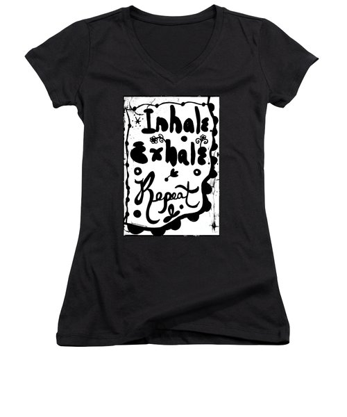 Inhale Exhale Repeat Women's V-Neck