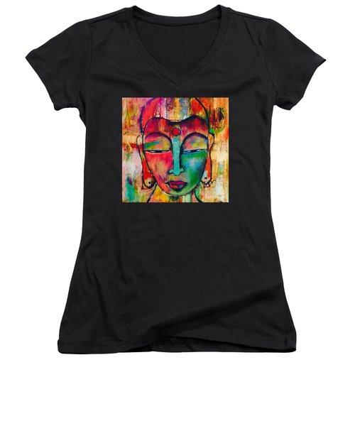 Inner Buddha  Women's V-Neck T-Shirt