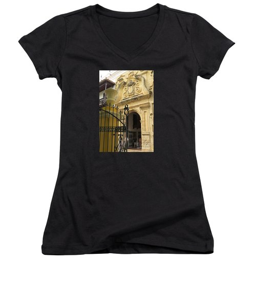Inquisition Palace Women's V-Neck T-Shirt (Junior Cut)