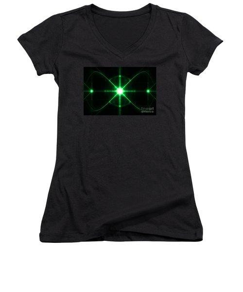 Women's V-Neck featuring the digital art Intergalactic by Vix Edwards
