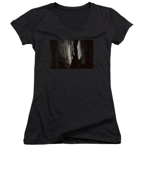 Into The Dark  Women's V-Neck T-Shirt (Junior Cut) by Nadalyn Larsen