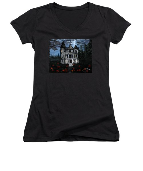 Into The Forest Women's V-Neck (Athletic Fit)