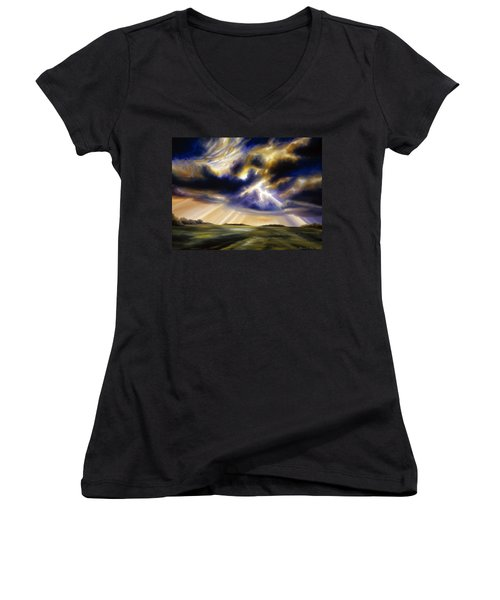 Iowa Storms Women's V-Neck T-Shirt