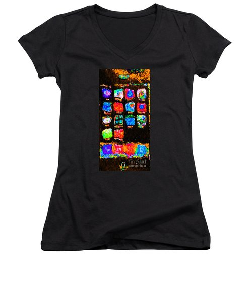 Iphone In Abstract Women's V-Neck