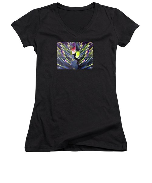 Iris Abstract Women's V-Neck (Athletic Fit)