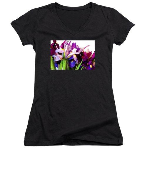 Iris Bouquet Women's V-Neck