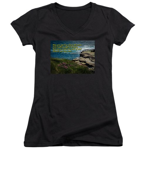 Irish Blessing - May Your Joys Be As Deep... Women's V-Neck