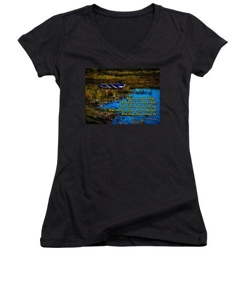 Irish Blessing - There Are Good Ships... Women's V-Neck