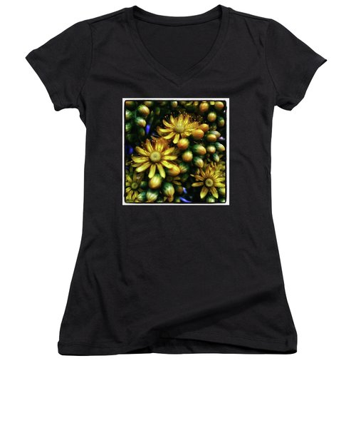 Women's V-Neck featuring the photograph Irish Rose. Also Known As Pinwheel by Mr Photojimsf