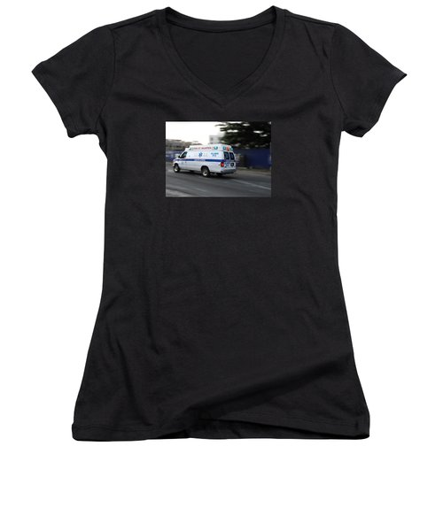 Island Ambulance Women's V-Neck (Athletic Fit)