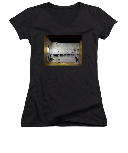 Israel Western Wall - Our Heritage Now And Forever Women's V-Neck (Athletic Fit)