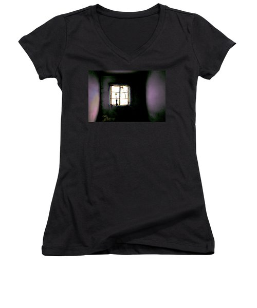 It Was Her Room... Women's V-Neck T-Shirt (Junior Cut) by Gray  Artus
