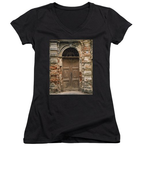 Italy - Door Four Women's V-Neck (Athletic Fit)
