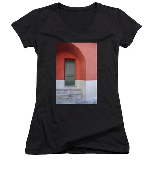 Italy - Door Two Women's V-Neck (Athletic Fit)