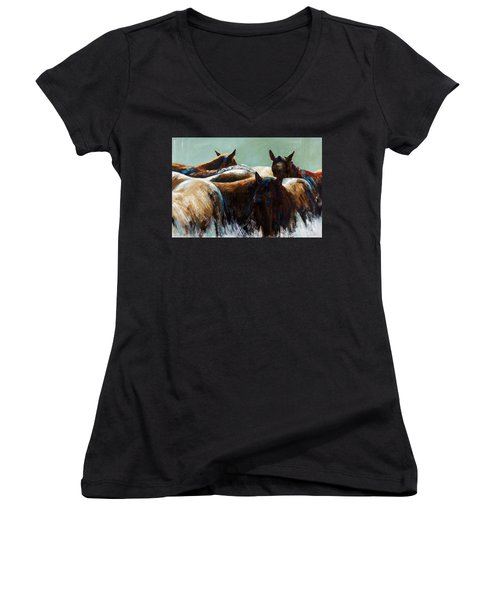 Its All About The Brush Stroke Women's V-Neck T-Shirt