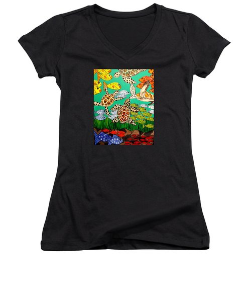 It's Turtle Time Women's V-Neck T-Shirt