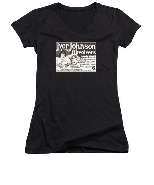 Iver Johnson Revolvers Women's V-Neck T-Shirt