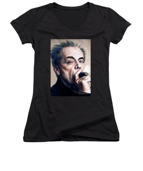 Jack Nicholson 2 Women's V-Neck T-Shirt