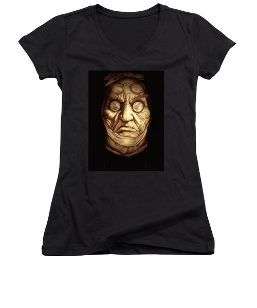Jacob Marley Women's V-Neck T-Shirt (Junior Cut) by Fred Larucci