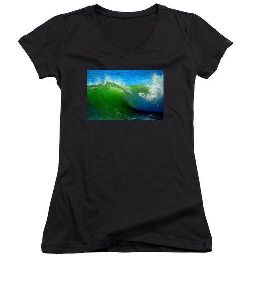 Jade Cascade Women's V-Neck T-Shirt
