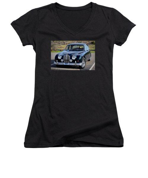 Jag Women's V-Neck T-Shirt (Junior Cut) by AJ Schibig