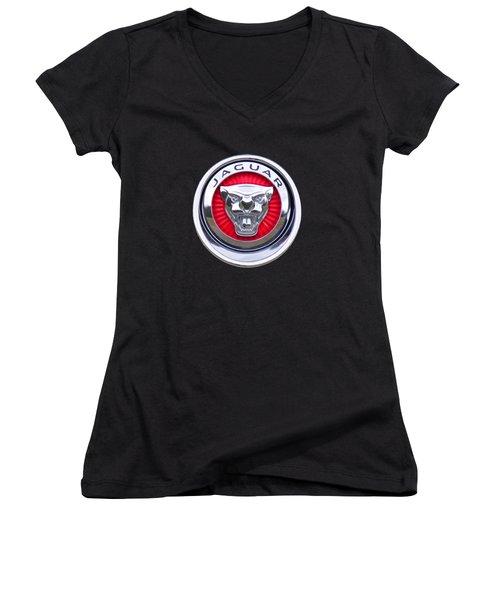 Jaguar Emblem Women's V-Neck (Athletic Fit)